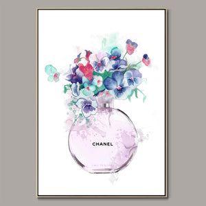 Chanel No.5 Flowers Framed Canvas