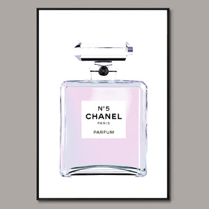 Chanel No.5 (purple) Framed Canvas