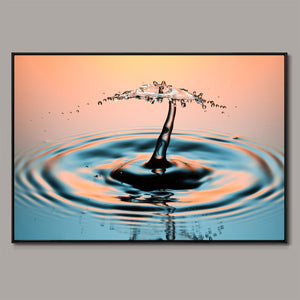 Falling water (peach) Framed Canvas