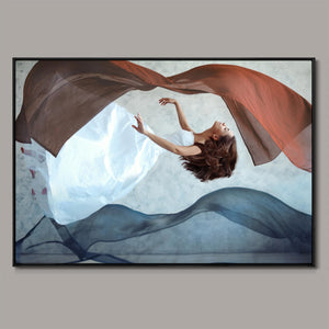 Flying dance Framed Canvas