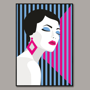 Geometric fashion poster Framed Canvas