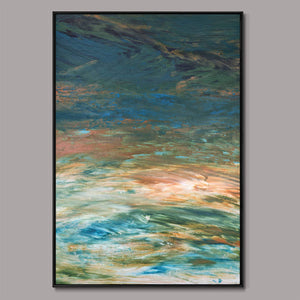 Autumn brush strokes Framed Canvas