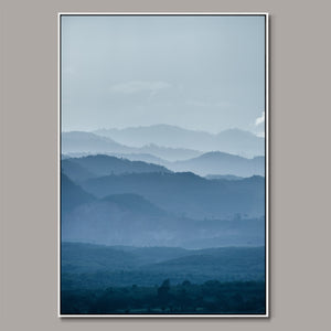 Meandering mountains Framed Canvas