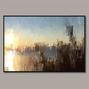 Morning glare Framed Canvas