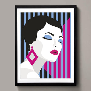 Geometric fashion poster
