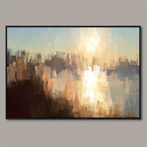 Rising reflection Framed Canvas