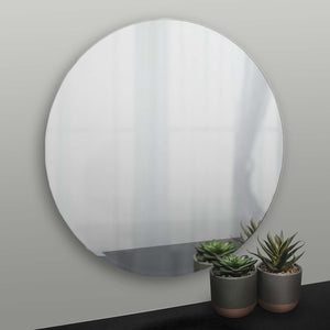 Round Bevelled frameless mirror