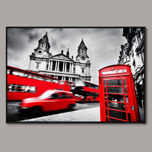 St Pauls call Framed Canvas