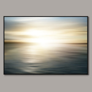 Sunset motion blur Framed Canvas