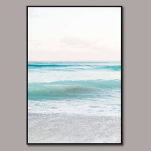 Teal seas Framed Canvas