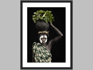 """The Carrier"" Open edition Cotton Rag print in black grain frame"