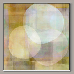 White circles Framed Canvas