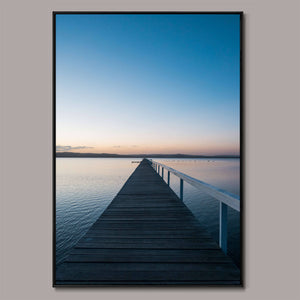Tranquil pier Framed Canvas