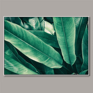 Tropical leaves Framed Canvas