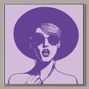 Ultra violet hipster Framed Canvas