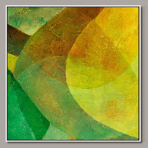 Green and yellow Framed Canvas