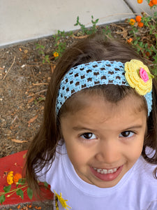 Flower Crochet Headband