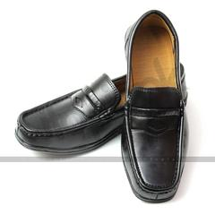 Leather Loafers for Men (LL01) - Black