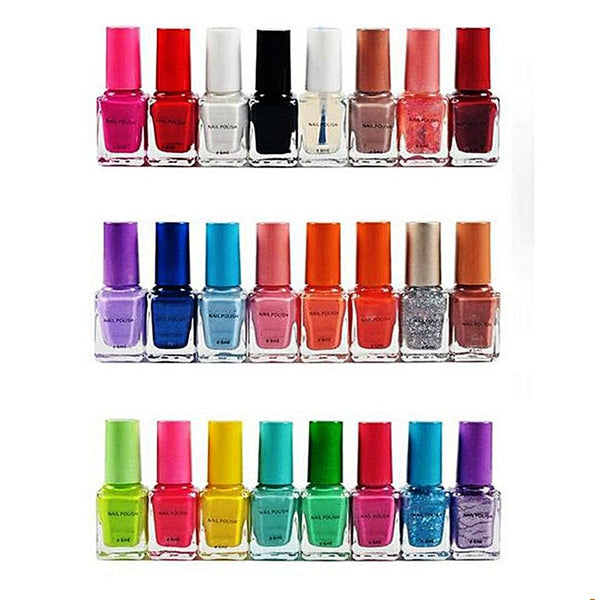 Bundle Of 24 - Nail Polishes - Multicolor