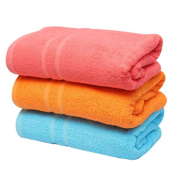 Pack of 3 - High Quality Bath Towel - Multicolour
