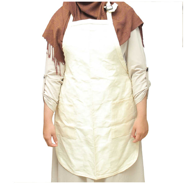Pack of 6-Sleeveless Beautiful Lady Plain Cotton Pocket Apron