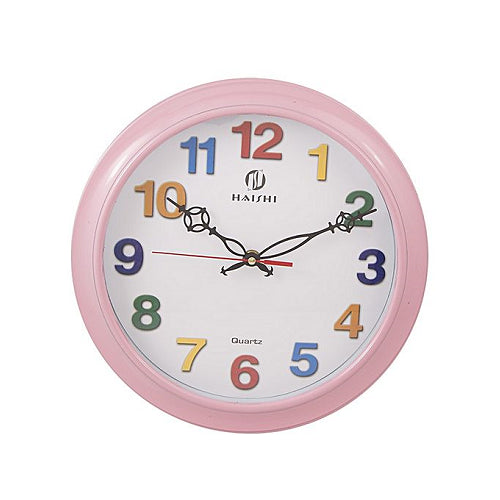 Asaan Buy Colorful Numbers Wall Clock-Pink-11x11