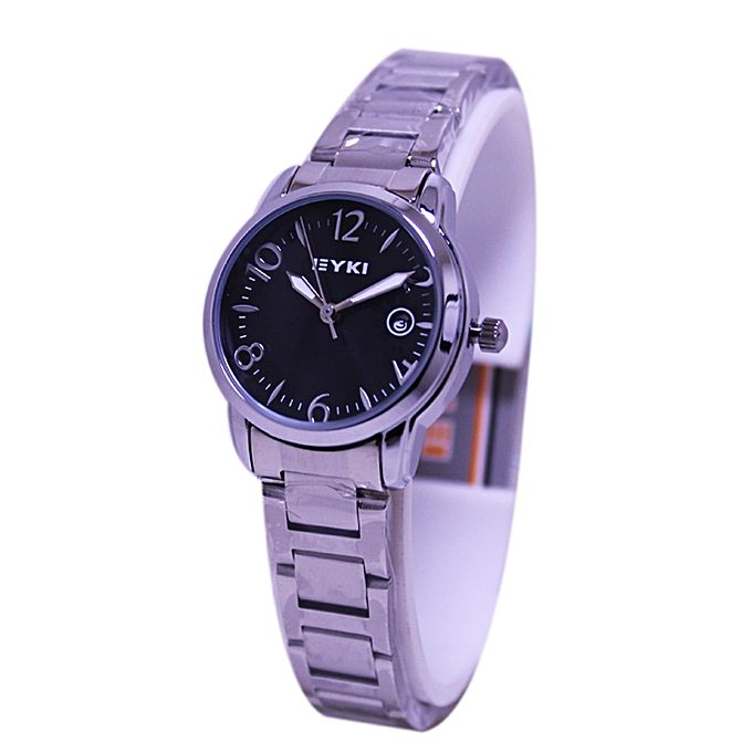 Eyki Silver Stainless Steel Analog Watch for Women