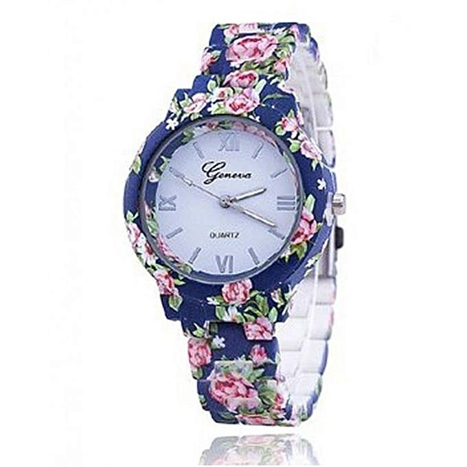 Flower Printed Watch For Women