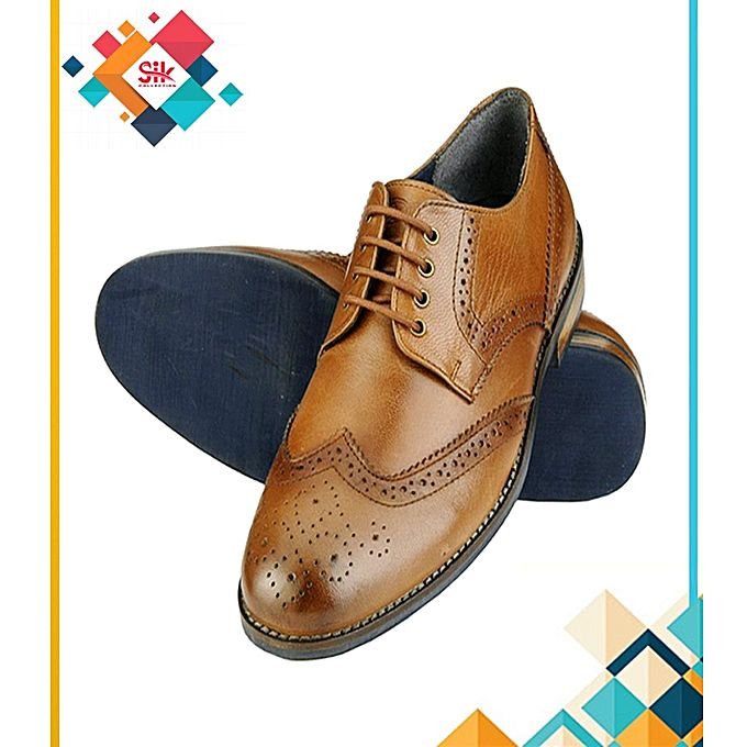SIK Collection Mustard Stylish Formal Embroidery Designs Shoes For Men