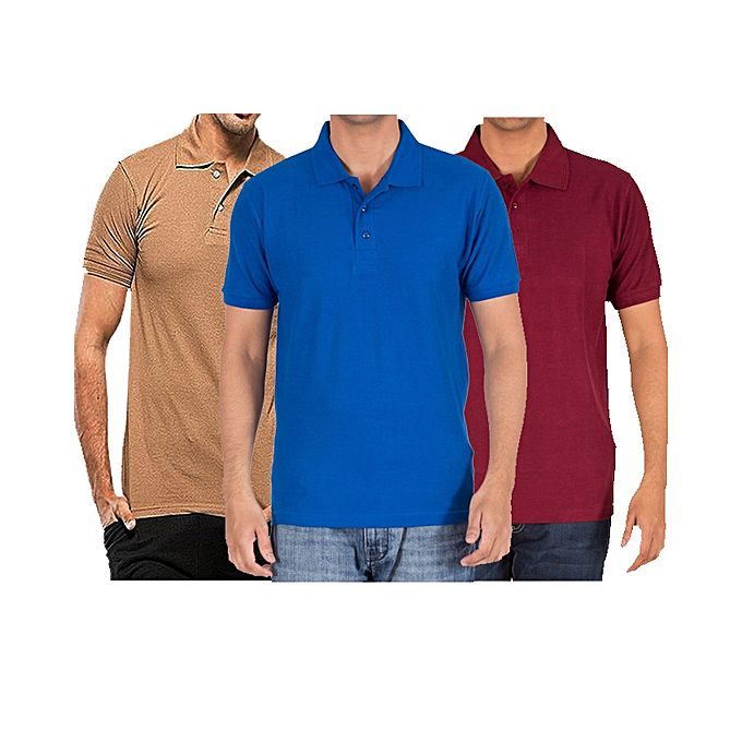 Pack Of 3 Polo T-Shirts For Men