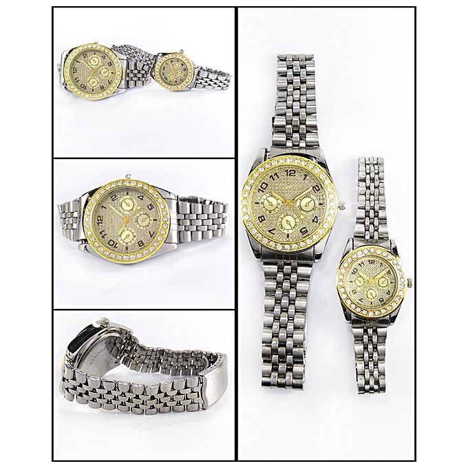 Silver Stainless Steel Watches For Couples