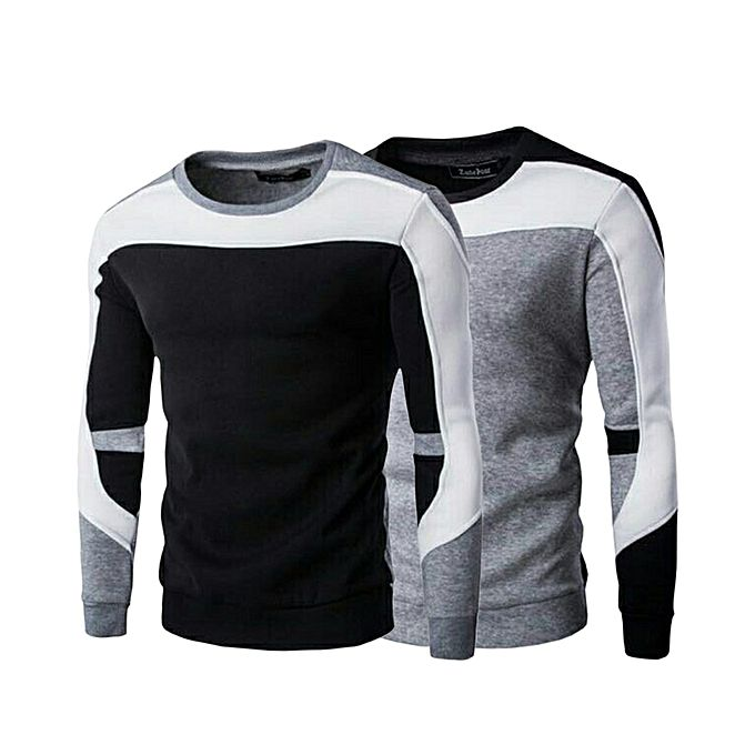 Pack Of 2 - Multicolor Fleece SweaT-Shirt For Men
