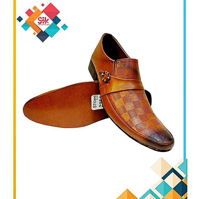 SIK Collection Mustard Formal Stylish Shoes For Men