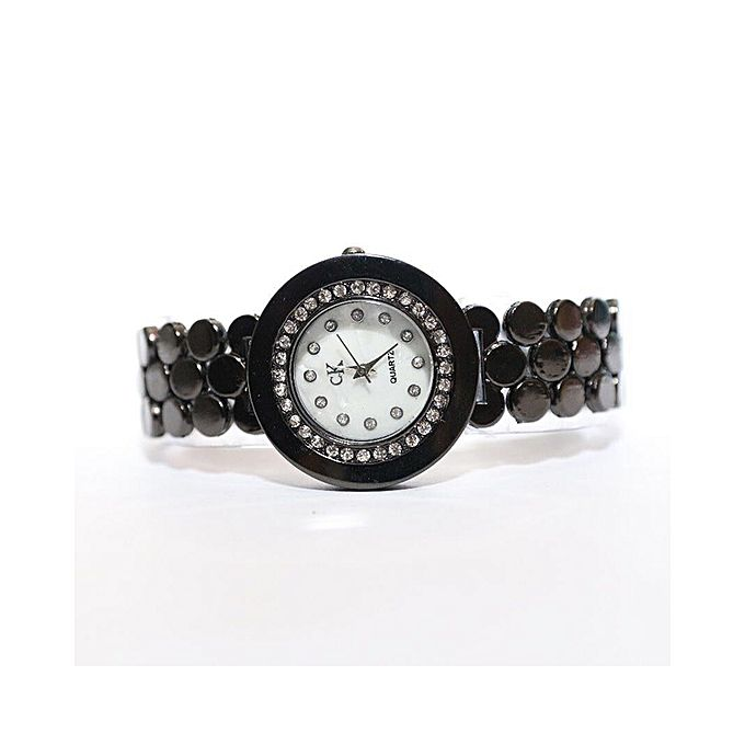 Black Stylish Stainless Steel Watch For Women