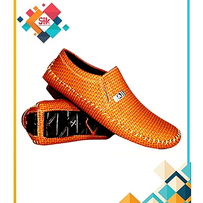 SIK Collection Mustard Loafers Stylish Casual Shoes For Men