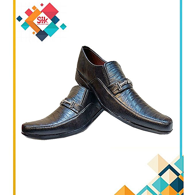SIK Collection Black Formal Stylish Shoes For Men