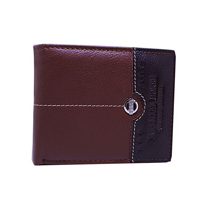 Imperial Leather Double Shade Brown Leather Wallet For Men