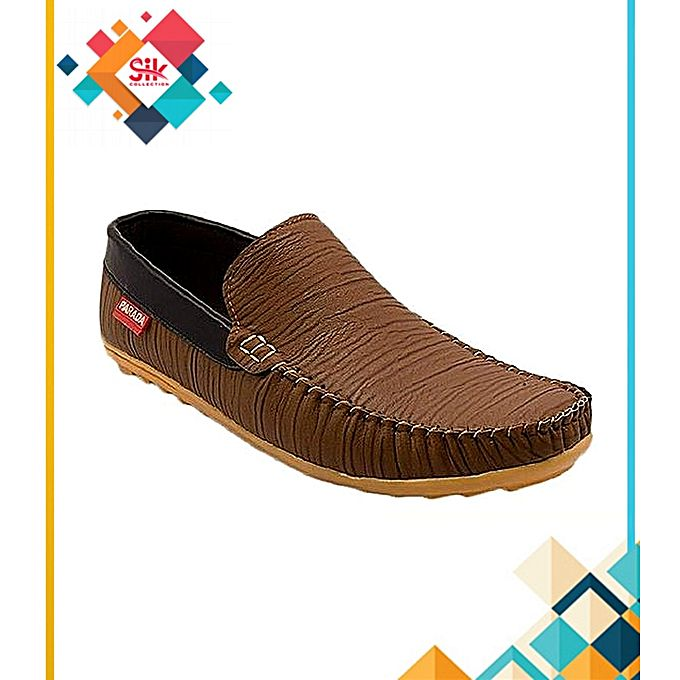SIK Collection Brown Loafer Stylish Loafers Rexine Shoes For Men