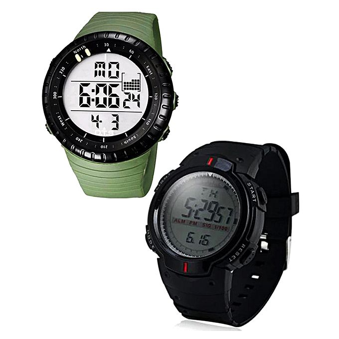 Pack of 2 Digital Watch for Men