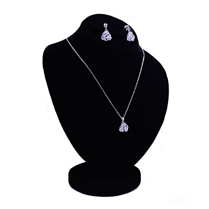 Silver Zircon & Metal Jewelry Set for Girls