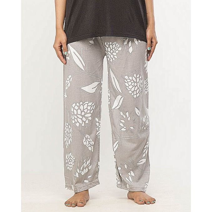 Leaves Printed Design Pajama For Women