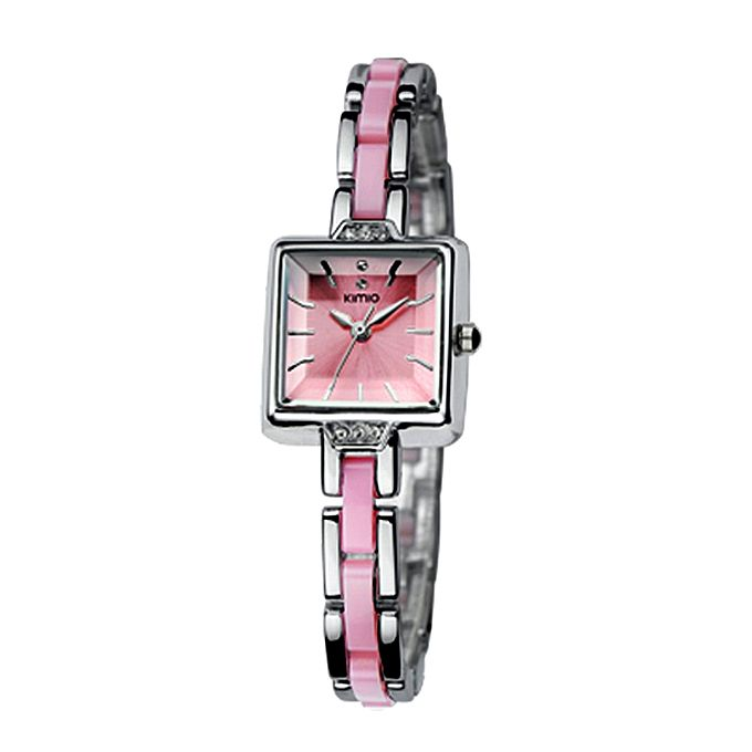 Kureshi Collections Pink Bracelet Watch for Women