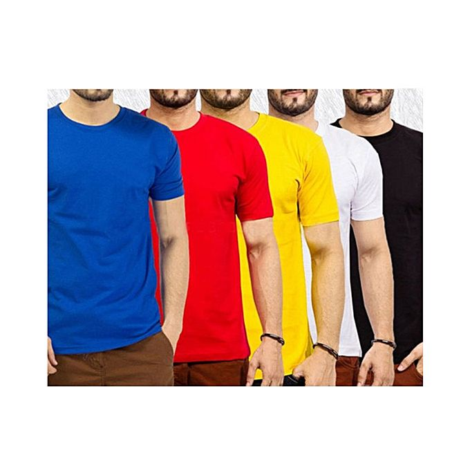 Pack Of 5 Round Neck T Shirts For Men