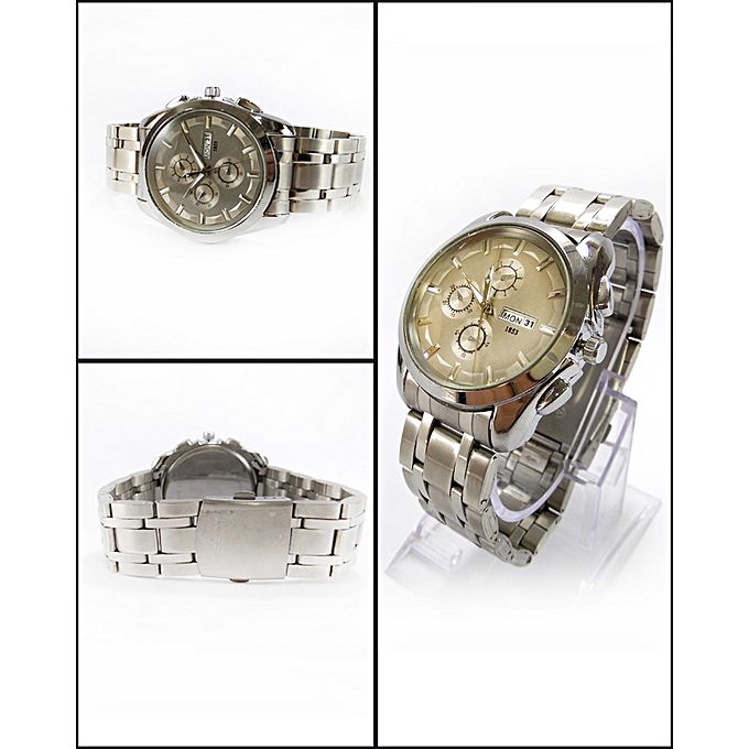 Silver Stainless Steel Watch For Men