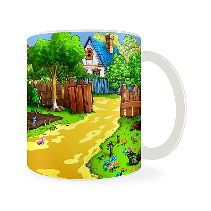 Village View Design Printed Mug - Multicolor