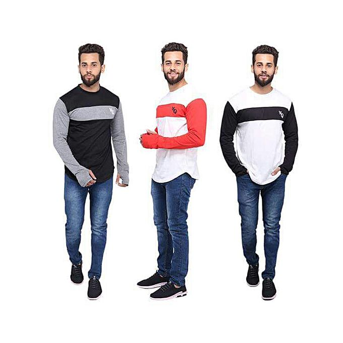 Pack of 3 Round Neck Full Sleeves For Men