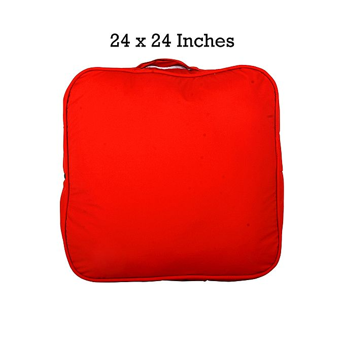 Rubber Coated Fabric Floor Cushion - Red