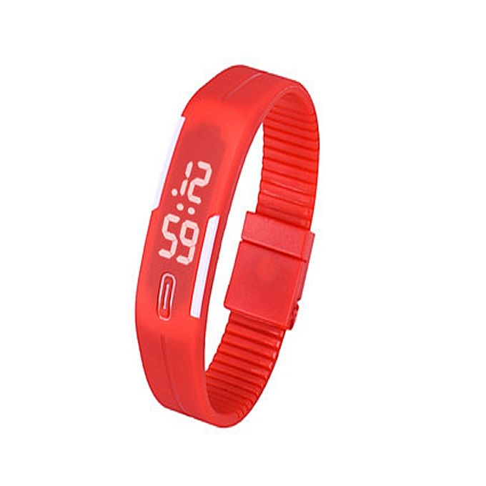 Kureshi Collections Red LED Bracelet Watch for Girls