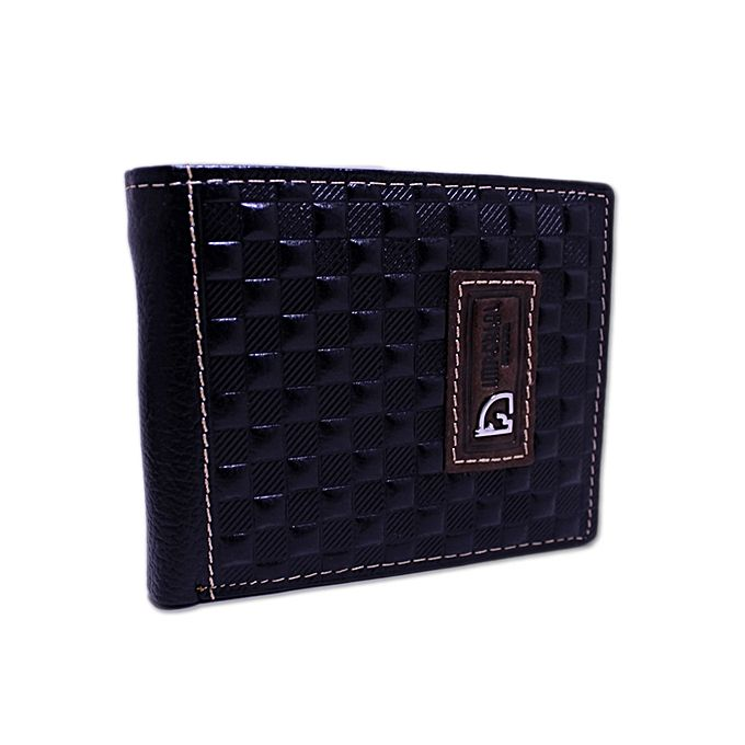 Kureshi Collections Dotted Black Imperial Horse Leather Wallet - A-I-023