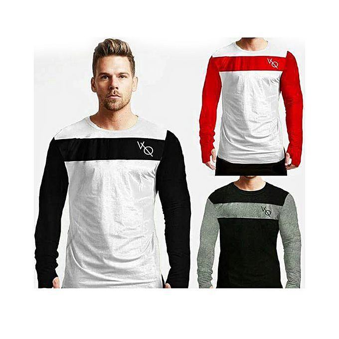 Pack of 3 Round Neck Long Sleeves T-shirts For Men